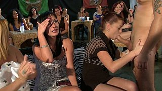 Club full of hot girls who get ready to suck and take facials Thumbnail