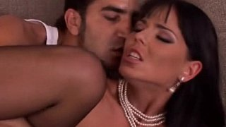 Sexy European brunette in black stockings gets pounded Thumbnail