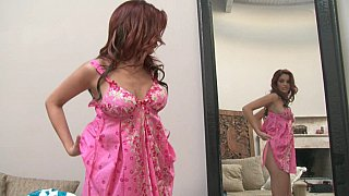 Fancy Jayden Cole changing dresses