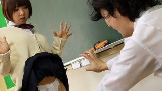 Asian brunette slut fucked in the classroom Thumbnail