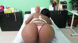 Big butt nurse Codi Bryant gives her patient an amazing head Thumbnail