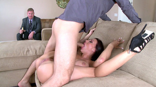 Rachel Starr making her husband to watch her get face-fucked and licked Thumbnail