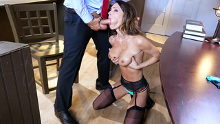 Judge Jessica Jaymes is a sexy slut who loves to suck big cock