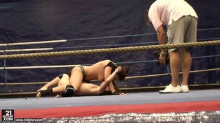 Nude fight club with Eliska Cross and Lisa Sparkle. Thumbnail