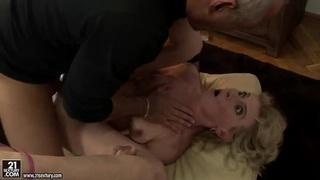 Mature lady Margarette is fucking on tape