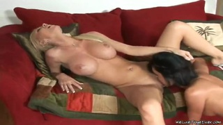 Busty Molly Cavalli gets licked by Richelle Thumbnail