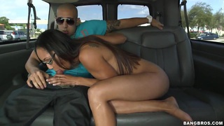 Amateur Joanna James gets nasty in bang bus
