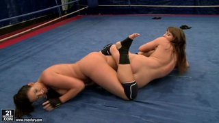 Eliska Cross and Lisa Sparkle get naked and fight hard Thumbnail