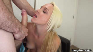 Blonde shoots her first porno and gets a... Thumbnail