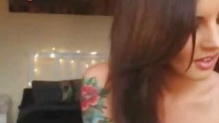 Stunning Tattooed Webcam Girl Plays