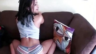 Black Ex Girlfriend Twerking And Finger Banged On Sofa