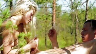 Petite Olivia Devine slit banged in the woods Thumbnail