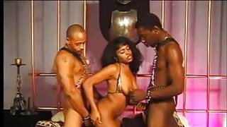 Black Slut In A Dark Threesome