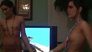 Horny misbehaving of wild party sluts