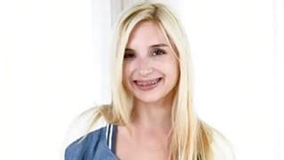 Very slim blondie teen Piper Perri pussy nailed by big cock Thumbnail