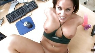 Babe is being fucked hard by a tough dude