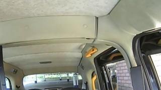 Canadian blonde banged in British fake taxi