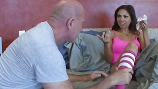 Trinity's step dad loves to smell her panty in the laundry basket Thumbnail