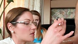 Sexy mum watches as guy pounds sweet babes muff Thumbnail