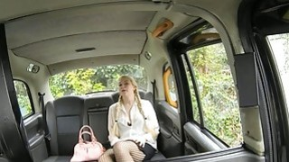 Hot blonde passenger fucked by older man in the backseat
