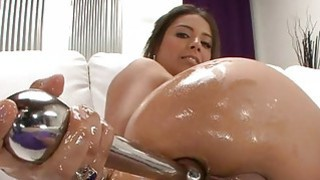 Babe bows over for studs rough anal hammering Thumbnail