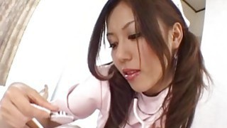 Rimu Himeno gives a headfucking and foot job to horny patient Thumbnail
