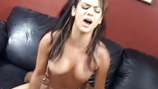 Teen honey getting fat long shlong in her holes Thumbnail