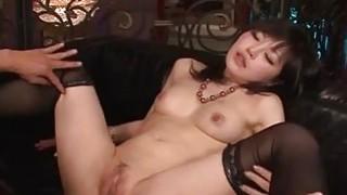 Lingerie model Hikaru Kirameki takes big dick in her holes Thumbnail