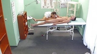 Sexy nurse massages and fucks patient Thumbnail