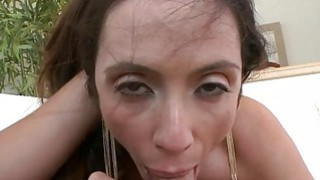 Alluring milf honey is savouring a long male cock