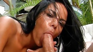 Brazilian bitch gets nailed by her studhorse
