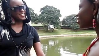 Wow! How to please african pussy and ass? These african lesbians will show you. Thumbnail