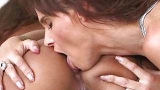 Busty MILF Syren Demer and teen Calypsa Mica make out