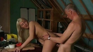 Cutie Big Tits Girl Fucking Grandpa While Masturba Thumbnail
