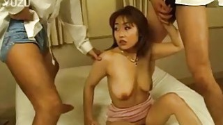 Yui needs two huge throbbing cocks to reach orgasm