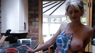 Blonde juicy boobs MILF with music vibrator on webcams Thumbnail