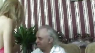 Handicapped old man fucks young blonde teen Thumbnail