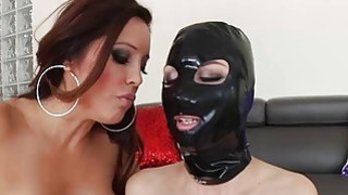 Hot lesbians Francesca Le and Aidra Fox play with strap on Thumbnail