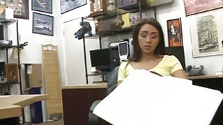 Pretty brunette boned by nasty pawn guy at the pawnshop