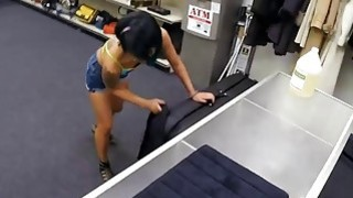 Asian babe gets pounded on massage table by pawn guy Thumbnail