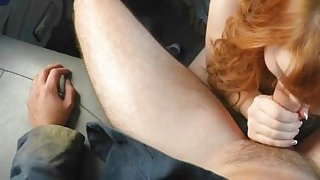 Flawless blonde fixing mess with blowjob on mad big cock tow truck driver Thumbnail