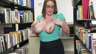 Horny chick takes big cock at the local library Thumbnail