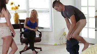 Busty milf Alexis bangs with Quinn and boyfriend
