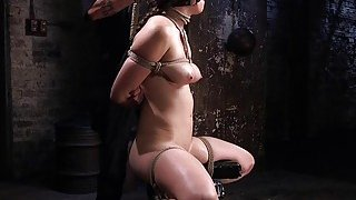 Busty slave anal and pussy punished