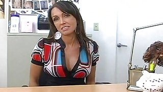 Mommy stuffs face hole and fanny with pecker