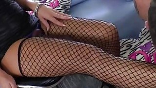 Blonde MILF slut in stockings fucking her lover's Thumbnail