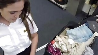 Spanish and sexy stewardess fucks Shawn in doggystyle at the bathroom Thumbnail