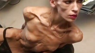Bony brunette Inna displays her anorexic body for the camera Thumbnail