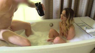 Horny slut and hung deviant have gonzo action in bathroom Thumbnail