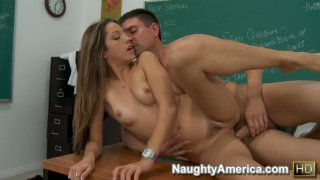 Beautifula and smart Jenna Haze gives an extra class to her student and fucks him hard Thumbnail